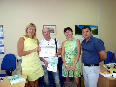 Награждение победителя всероссийской акции «СЕЗОН РЕКОРДОВ FUJITSU AIRSTAGE» в Самаре.