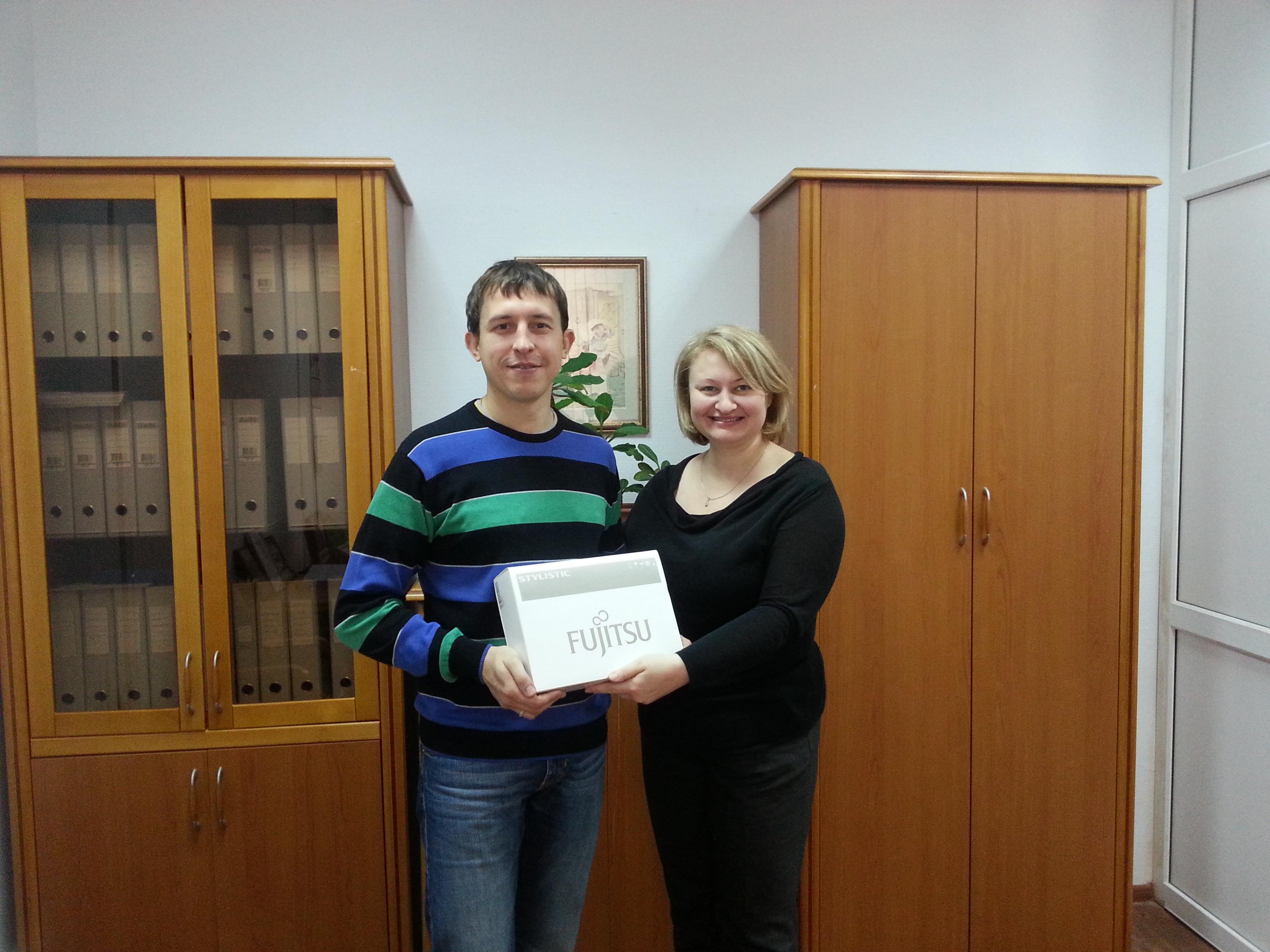 награждение победителя акции от fujitsuв Перми