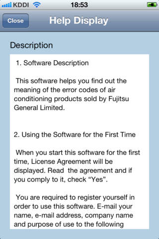Fujitsu Error Code Application