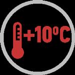 Поддержание +10 °C в режиме обогрева